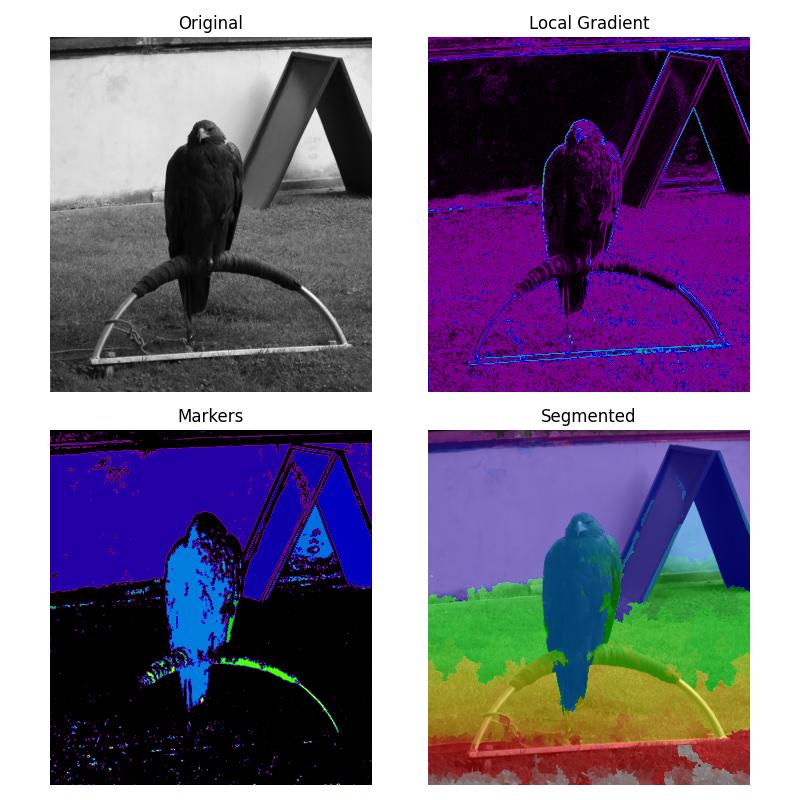 Markers for watershed transform — skimage v0 16 dev0 docs