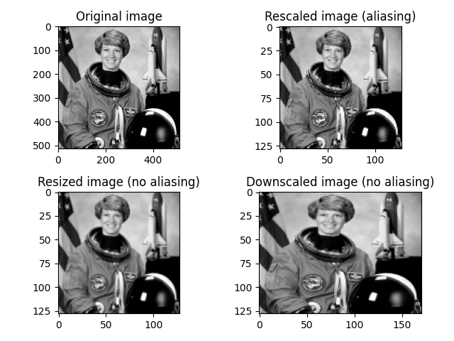 Rescale, resize, and downscale — skimage v0 16 dev0 docs